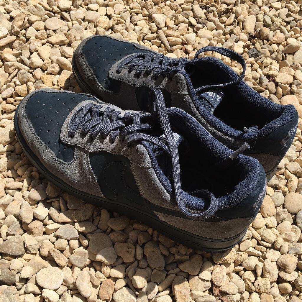 e7b2bdbb39b09 Men's Rare Nike Air Force 1 Trainers Blue Suede size 10.5   in ...