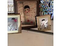 Classic Pierrot 70s mirror picture set