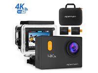 4K Wi-Fi Action Camera 20MP Waterproof 30M