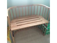 BABYBAY BEDSIDE COT WITH BUMPER AND SHEETS