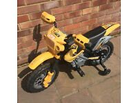 Kids mini motocross ride-on Motorbike Electric 6V Battery - Yellow