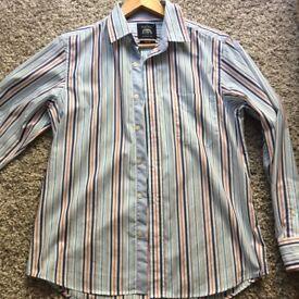 SAVILE ROW new multi stripe slim fit button down casual mens shirt ! Medium