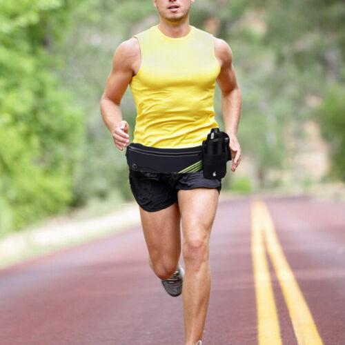 Sport Belt Waist Pack Pouch Water Bottle Holder Black Bag Fo