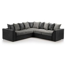 *** 1 YEAR WARRANTY *** BRAND NEW BYRON LARGE CORNER SOFA OR SOFA BED ON SPECIAL OFFER