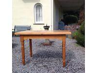 Pine kitchen table seats four