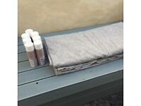 4way stretch Van/camper lining carpet Grey 3.4m x 2m. with trimfix glue x 6