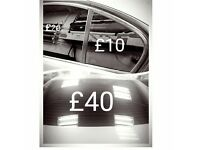 Wimdow Tinting from £80 back three windows & Car Wrapping head lights tinting 07533300039