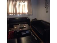 TWO LEATHER SOFAS IN GOOD CONDITION IKEA 3/4 SEATER