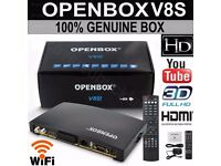 NEW OPENBOX V8S SATELLITE SYSTEM INCLUDES 12 MONTH GIFT/S