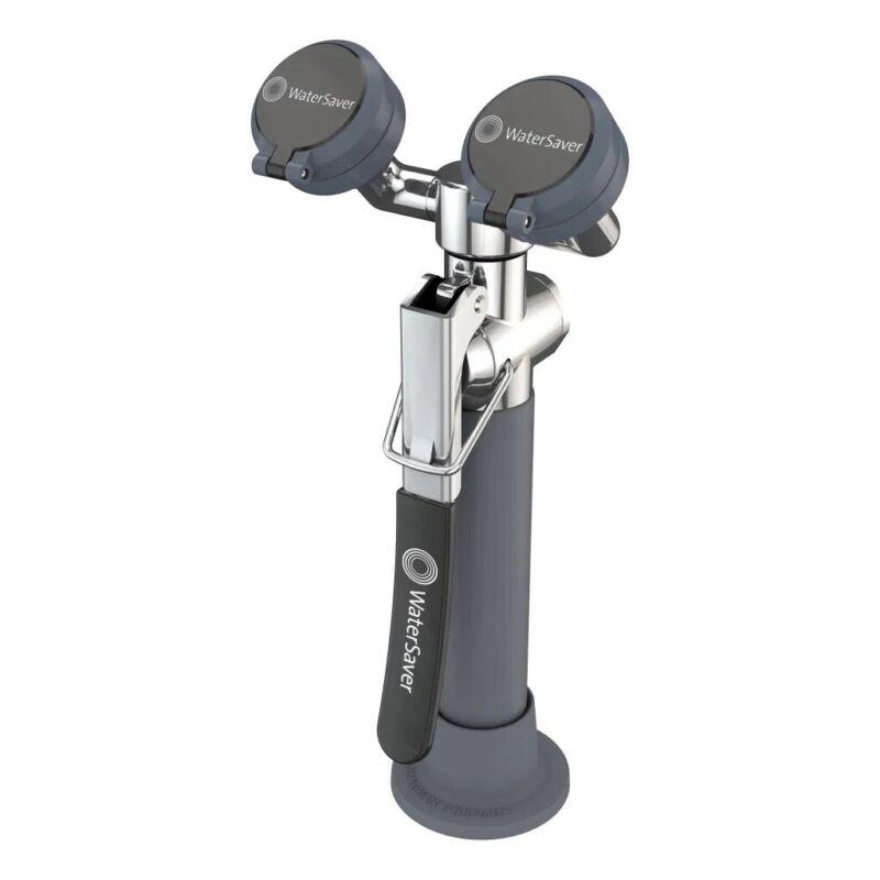 Watersaver Deck Mounted Dual Head Eye Wash Station No Bowl, EW1022 Free Shipping