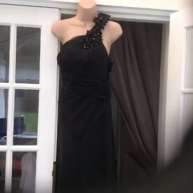 Small size long black dress only worn once
