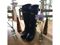 Limited Edition Black Hunter Wellington Boots Festival Fringes Orig £175