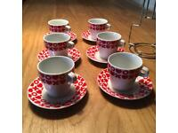 BUD Espresso Cups with Saucers and Storage Unit