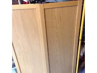 2 IKEA boors to fit Billy bookcases/other. Possibly Oak.