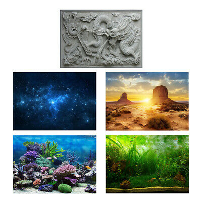 3D Waterproof PVC Material Aquarium / Fish Tank BackGround / Backdrop