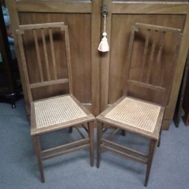 pretty chairs with Cane woven seats