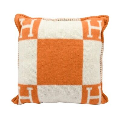 Hermes Cushion Avalon I PM Signature H Orange Throw Pillow  na sprzedaż  Wysyłka do Poland