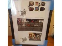 David bowie limited edition framed stamp collection