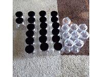 Job lot new empty plastic sweet jars