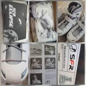 Unisex Boy/Girl/ladies Eclipse white/silver ice skates