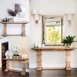NEW HARDWOOD FRENCH PROVINCIAL HAMPTONS STYLE HALL SOFA CONSOLE TABLE