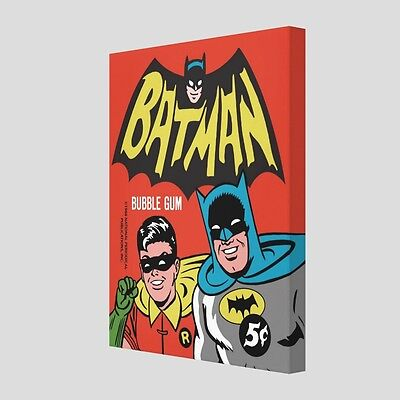 "Custom Canvas Print • Vintage BATMAN '66 ""Dynamic Duo"" Wrapper • 16""x20""x1.25"""