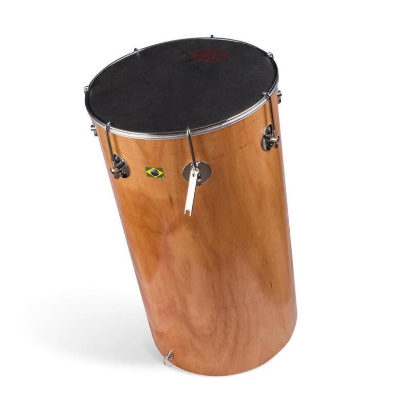 Brasilian African Tan TamTam Wood Shell Leather Drum Samba Capoeira - 65cm x 14