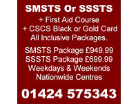 SMSTS / SSSTS Full Packages for Site Managers / Supervisors including CSCS Card.