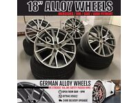 """4 BRAND NEW 18"""" ALLOYS WHEELS TO FIT VW AUDI GOLF R32 R GTD S3 S1 RS3 RS4 RS5 RS6 A3 A4 A5 A6 A7"""