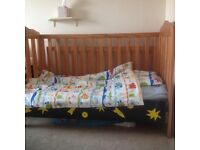 Cot bed, multiple configurations, all in good condition