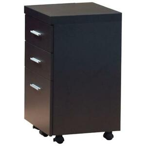 Monarch I 7013 Hollow-Core 3-Drawer File Cabinet  Cappuccino (New Other)