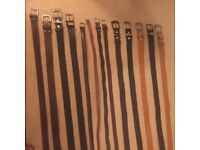 13 NEW Leather Belts - various sizes Mens and Womens