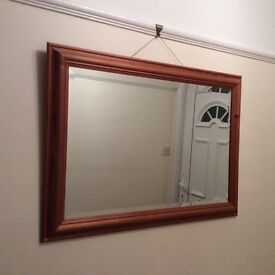 Pine frame mirror ideal for up cycling