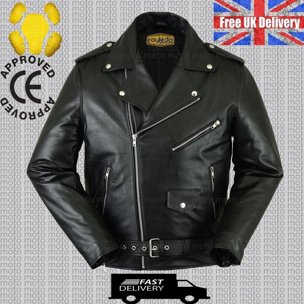 100% REAL COWHIDE LEATHER JACKET
