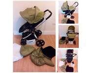 Mothercare spin pram to pushchair with accessories