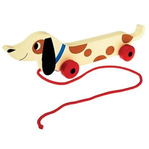 Rex London CHARLIE THE SAUSAGE DOG WOODEN PULL ALONG TOY