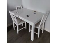 Dining table LANEBERG 130/190x80 + 4 chairs
