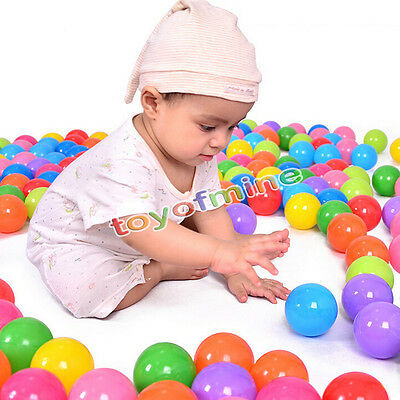 200 pc Colorful Ball Pit Balls Fun Ball Soft Plastic Cool Ocean Swim Toy