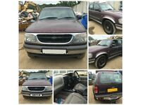 Ford Explorer 4.0 V6 Auto 1998 4x4 Purple front bumper all parts available