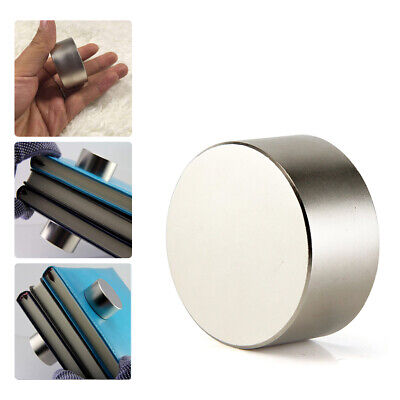 40mm20mm N52 Super Strong Neodymium Round Rare Earth Fridge Magnets Large Size