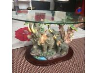Stunning Elephant Coffee table very rare and high quality