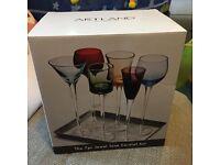Brand new - 7 piece Long Stem Liqueur Glasses set