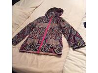 Free spirit girls Aztec rain mac age 9-10 years