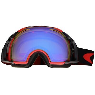 Oakley OO 7037-07 Airbrake Red Black w/ HI Yellow Lens Mens Snow Ski Goggles .