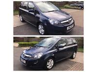 Vauxhall zafira exclusive 1.6 petrol pco uber 2012