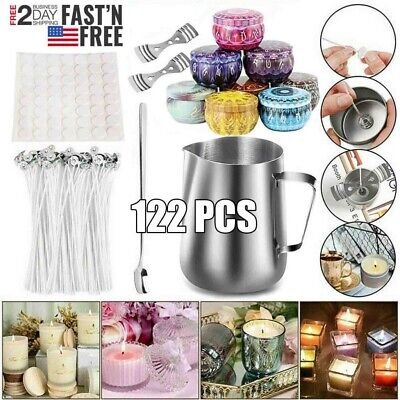 122Psc Candle Making Supplies DIY Candle Making Kit Beeswax Arts and Crafts New