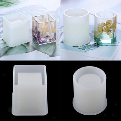 Resin Pot (Silicone Brush Pot Mold Mould For Epoxy Resin DIY Dried Flower Crystal Craft hi)