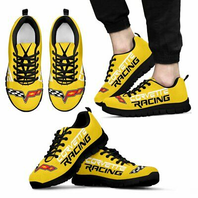 Corvette C6 Racing - Yellow-Top Men's Shoes-Free shipping-Best gift for