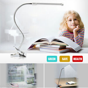 LED Flexible Lamp Light USB Clip-on Beside Bed Desk Table Reading Eye Protection