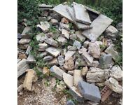 Large Pile of Reclaimed stone ideal for building walls or Rockeries